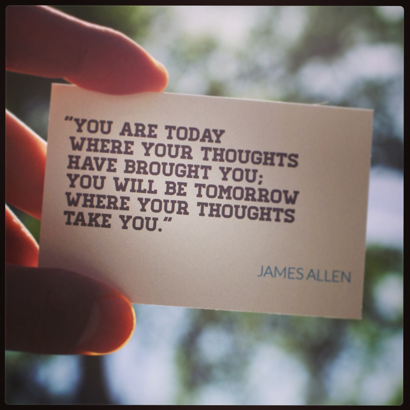 Image result for james allen you are today